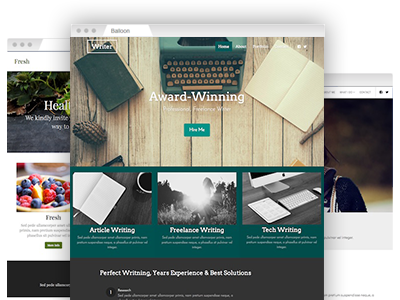 A set of easy–to–re–design website themes